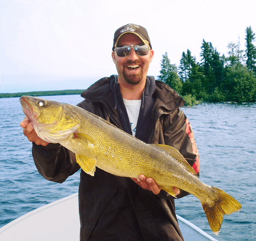 HUGE Walleye caught at Budd's Gunisao Lake Lodge World's Best Trophy Walleye and Northern Pike Fishing, Manitoba, Canada joined Budd's Master Angler Club