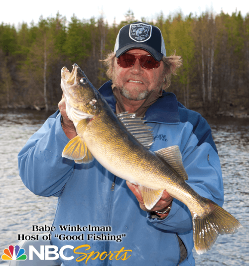 Babe Winkelman lands a HUGE Walleye at Budd's Gunisao Lake Lodge World's Best Trophy Walleye and Northern Pike Fishing, Manitoba, Canada and joins Budd's Master Angler Club