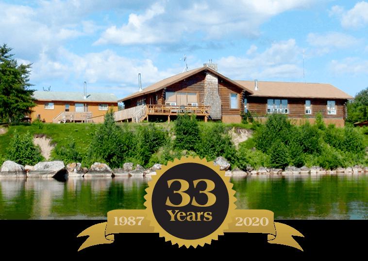Celebrating 33 years at Budd's Gunisao Lake Lodge World's Best Trophy Walleye and Northern Pike Fishing, Manitoba, Canada