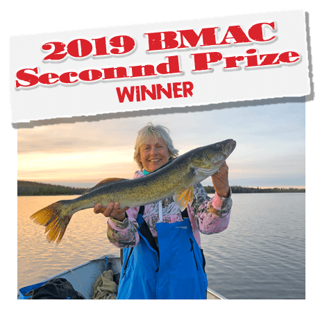 Karen Fischer, winner of a St. Croix Rod & Reel Combo